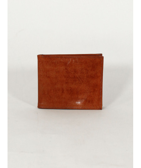 Light hazel brown sheepsikin Leather wallet