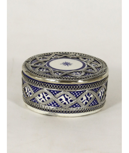 Enamelled ceramic box
